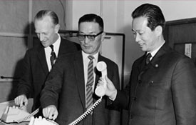 Goldstar Co., Ltd. produces the first automatic telephone in Korea